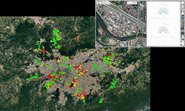 Visão geográfica do andamento das obras no PLUG