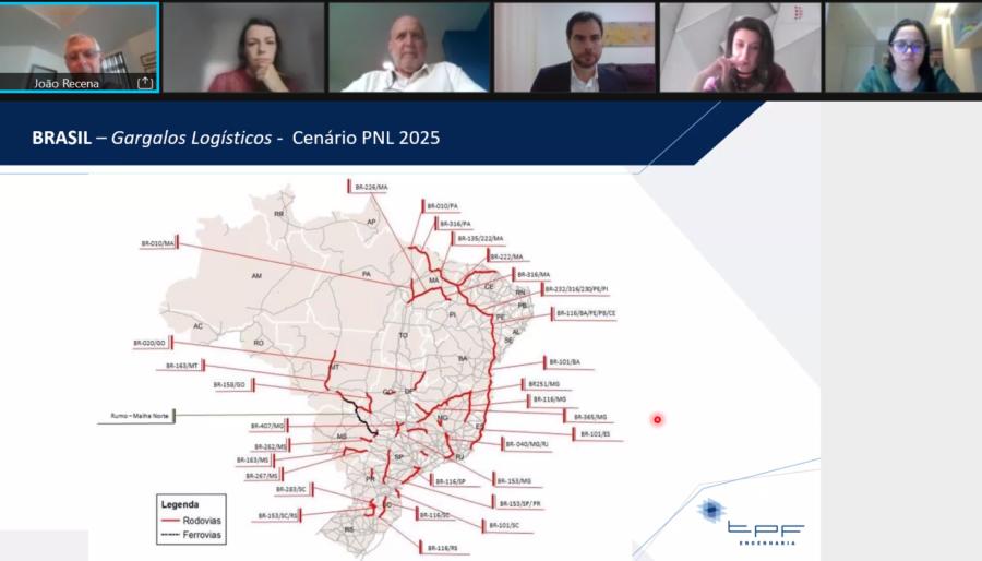 Os principais gargalos logísticos do Brasil - tema abordado pelo CEO da TPF Engenharia, João Recena, no Fórum de Infraestrutura & Energia